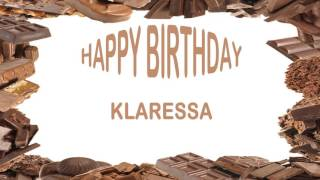 Klaressa   Birthday Postcards & Postales
