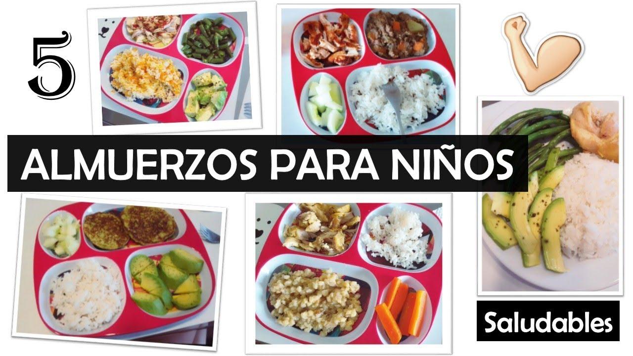 recetas de almuerzos saludables para niños