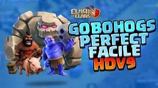 Clash of Clans - TUTO GOBOHOGS : Apprenez à PERFECT très facilement en HDV 9 !