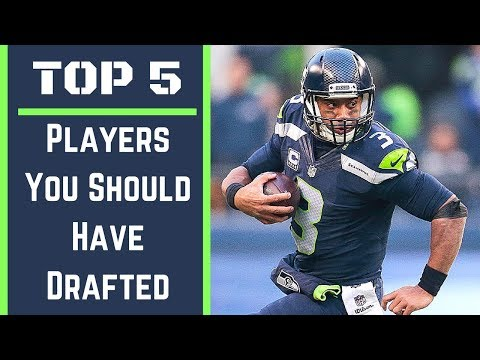 Top 5 Players You Should Have Drafted - 2017 Fantasy Football