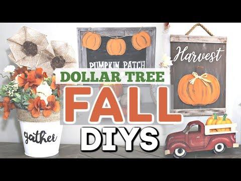 DIY Dollar Tree FALL Decor 2019 | Fall Home Decor DIY Crafts | Krafts by Katelyn