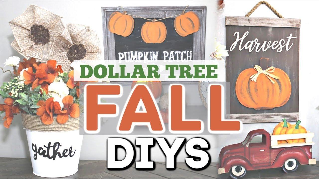 Diy Dollar Tree Fall Decor 2019 Fall Home Decor Diy