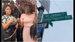 Lil Kim, Lil Cease Joins Biggie Smalls Family In Renaming Of Childhood Block In His Honor