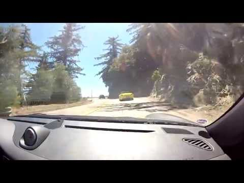 Drive up to Mt. Wilson with porsches