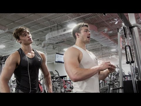 SPIKED MY DRINK?! UPPER BODY WORKOUT FT. DAVID LAID US VLOG_3