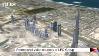 Burj Khalifa, Dubai  Empty offices in world's tallest building