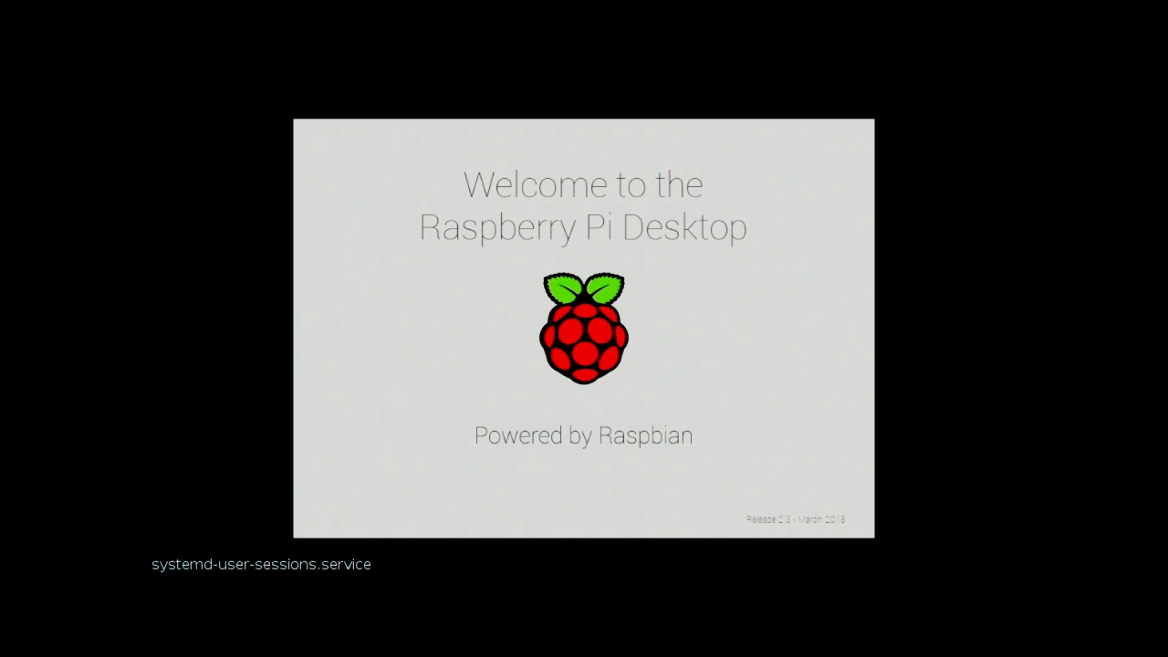 Loading Raspbian (Debian Stretch) Desktop on Raspberry Pi 3