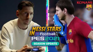 🔥 🎮 MESSI MEETS YOUNGER SELF in new PES 2021 OFFICIAL TRAILER