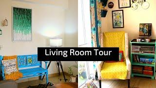 Rental Living Room Tour 2019   Living Room Decor Ideas   Kid Friendly Home Decr