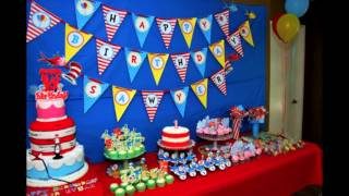Cool Dr seuss birthday party decorations ideas
