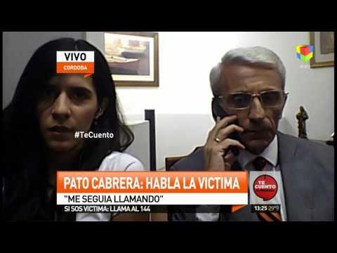 La ex del Pato Cabrera: Tengo miedo, no es la primera vez que me golpea