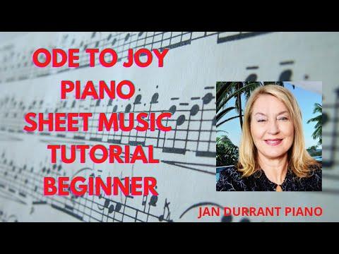 Ode to Joy Easy Piano Keyboard Tutorial Youtuube Notes Sheet Music