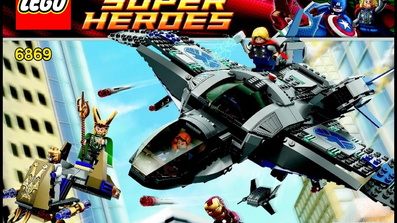 LEGO Marvel Super Heroes Avengers 6869 Quinjet Aerial ...