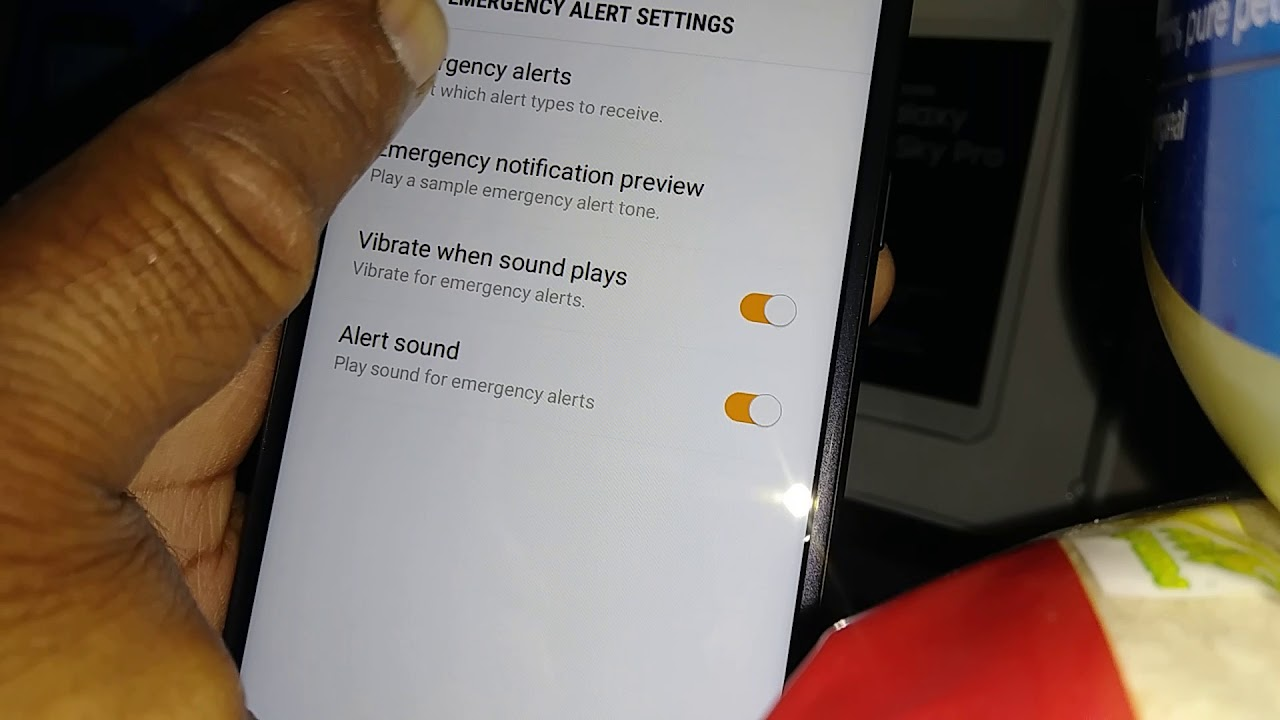 Activate Amber Alert messages or stop them on Samsung Galaxy J7 Sky Pro  Model SM-S737TL