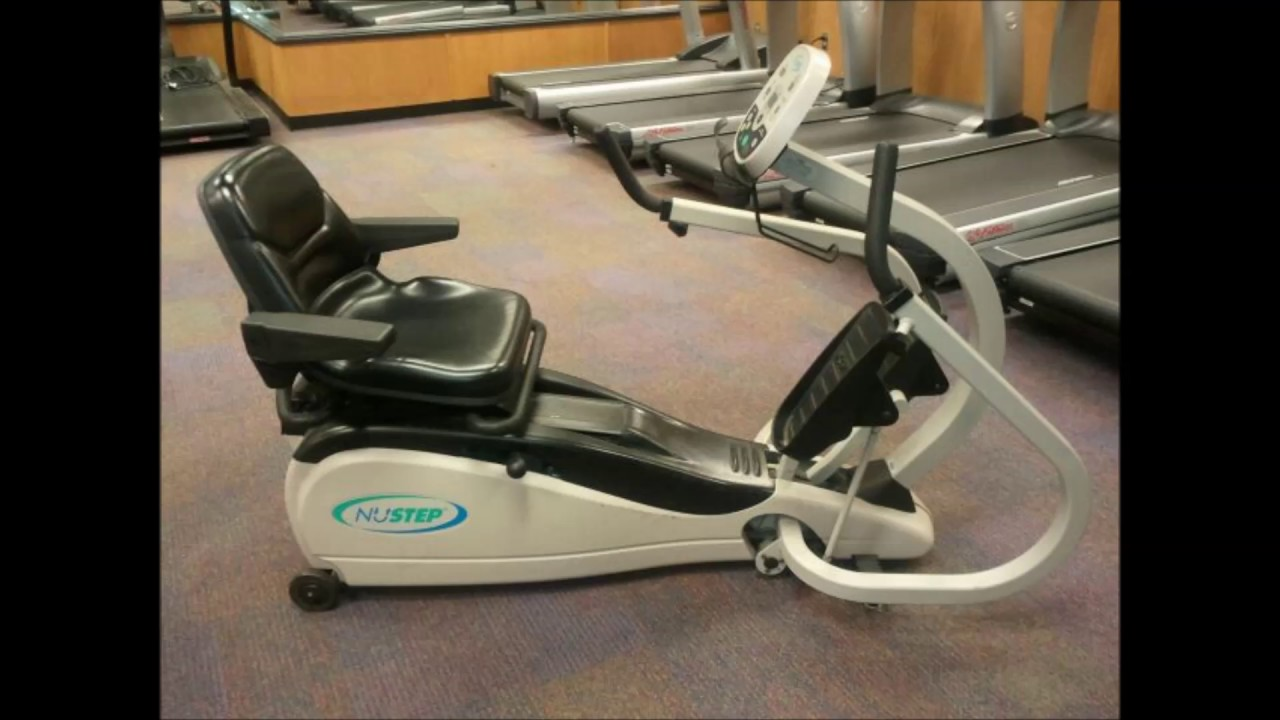 Used Nustep T4 Trs4000 Recumbent Elliptical Stepper Youtube