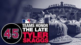 Teams across MLB honor Tyler Skaggs