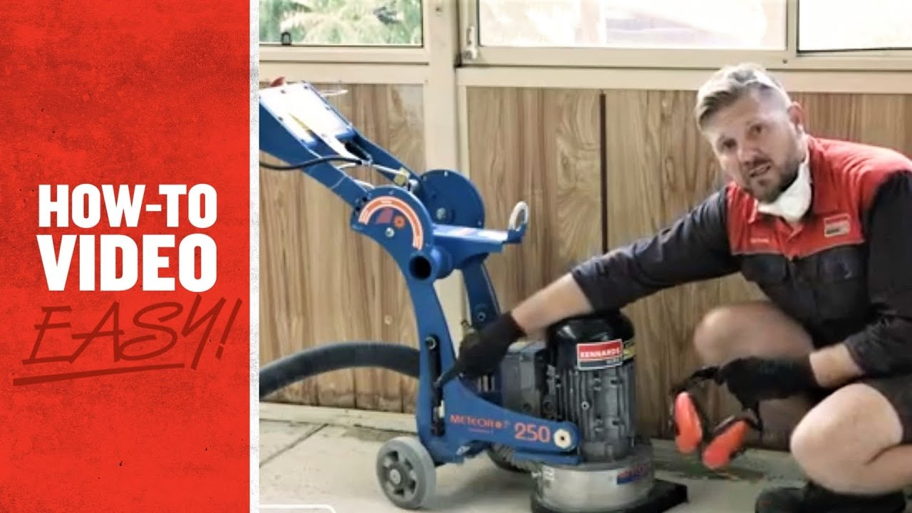 Kennards Hire How To Operate A Concrete Grinder