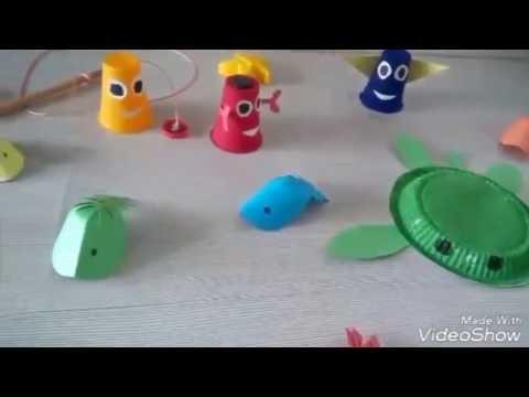 Plastik Tabak Ve Bardakla Deniz Canlilari Yapimi Youtube
