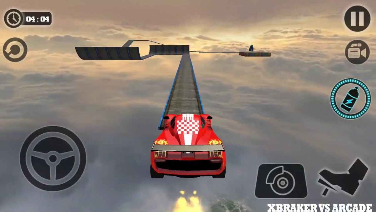 Impossible Stunt Car Tracks 3D Red Vehicle Driving levels 10 to 12 - Android GamePlay 2019