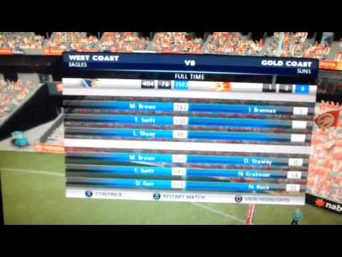 AFL Live 2011 - 400 Goals kicked in a match
