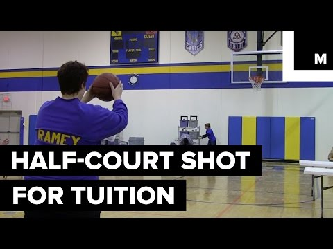 Baller Mom Makes Half-Court Shot to Win the Tuition Discount of Her Dreams