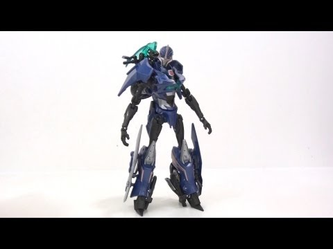 Video Review of the Transformers Prime Deluxe Class; Arcee