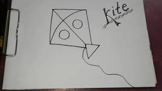 How to draw a KITE for kids 🌟