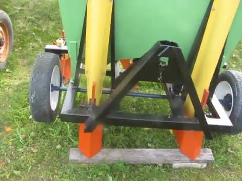 видео: самодельная двухрядная сажалка на т-25
