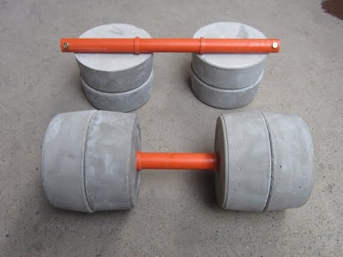 How To Make Homemade Concrete Dumbbell