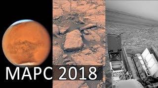 Марс 2018 август. Жидкая вода на Марсе. Источник пыли на Марсе. Неудачное бурение Кьюриосити.