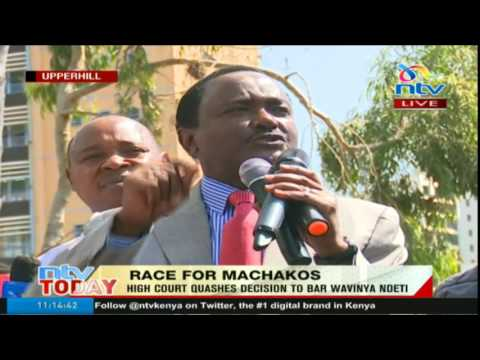 The race is on for Machakos governor seat Wiper leader Kalonzo Musyoka declares