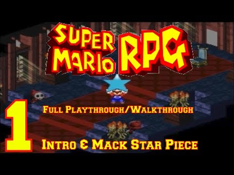 Super Mario RPG (SNES) Full Playthrough/Walkthrough Part 1: Intro & Mack Star Piece