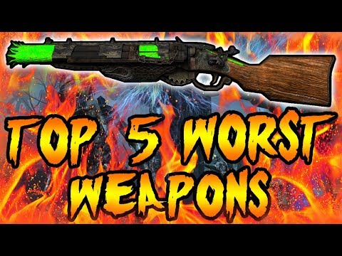 Top 5 WORST Wall Weapons! Call of Duty Zombies Black Ops 3, BO2, BO & WAW Gameplay