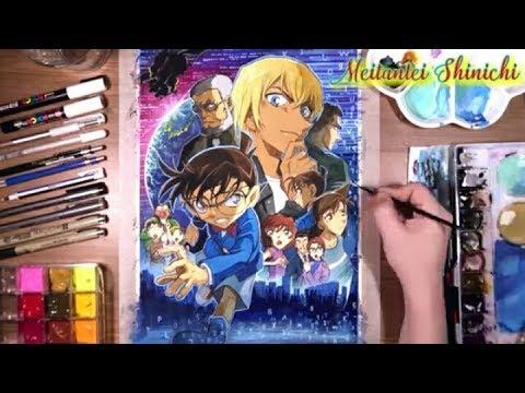 Vẽ trang bìa Movie Conan 22 : Zero no shikkounin
