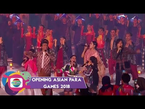 MEMBAKAR SEMANGAT! Song Of Victory Berkumandang di Opening Asian Para Games 2018