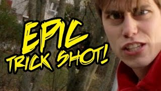 Epic Trick Shot FAIL!!! IDIOT GUY MISSES 100 SHOTS (ORIGINAL)