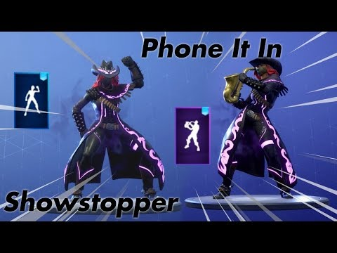 [Fortnite] New Leaked Emotes SHOWSTOPPER & PHONE IT IN V6.31