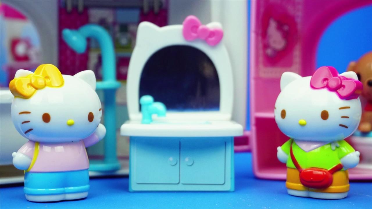 HelloKitty 寵物店與洗澡室 玩具 凱蒂貓 - YouTube