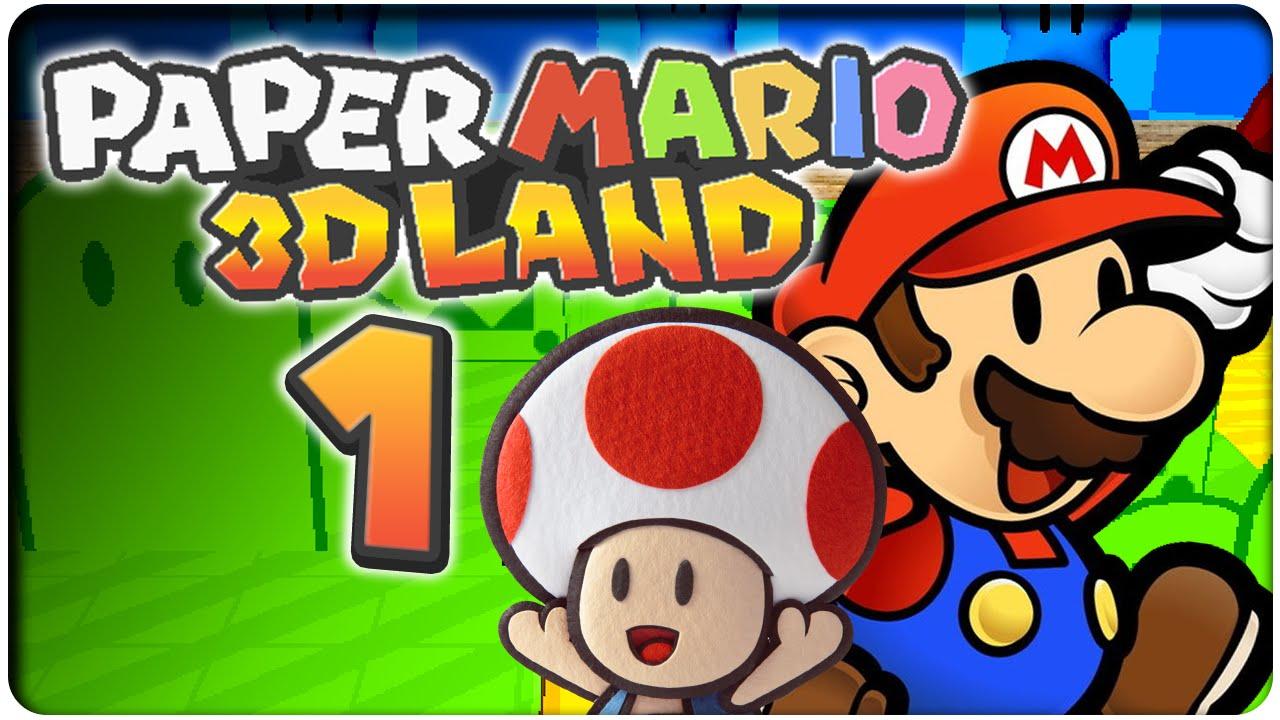 Let S Play Paper Mario 3d Land Part 1 Super Mario 3d Land Und
