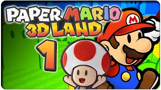 Let's Play PAPER MARIO 3D LAND Part 1: Super Mario 3D Land und Paper Mario Crossover!