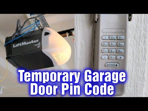 A Liftmaster Garage Door, Temporary Garage Door Code