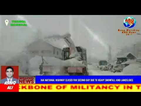 Jammu Srinagar Highway Closed For Second Day ABD NEWS 24x7