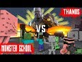 MONSTER SCHOOL VS THANOS AVENGERS : END GAME - Minecraft Animation