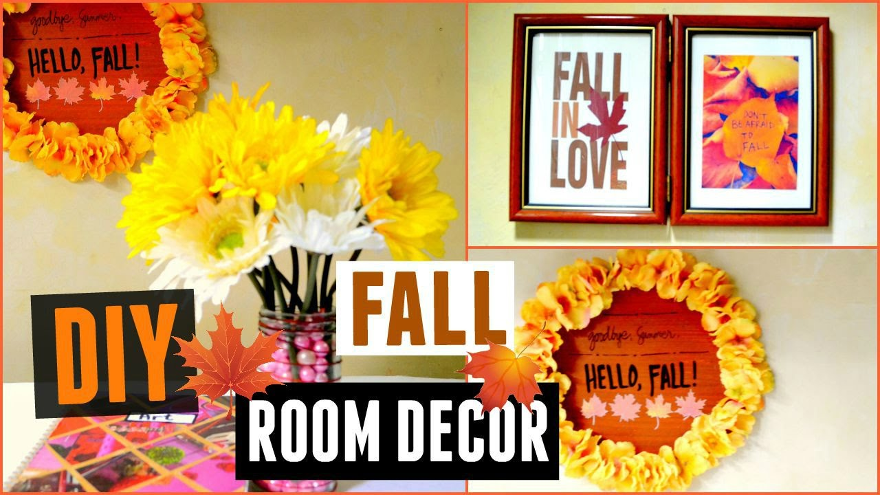diy fall room decor super cheap and easy decoration