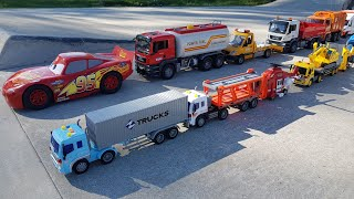 Toy Trucks driving and play Sliding Trucks with too many Trucks Video for Kids