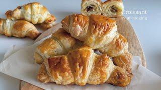 材料3つ!冷凍パイシートでできる!クロワッサン作り方🥐  Croissant 크로와상