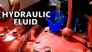 Adding Hydraulic Fluid to an Antique Tractor