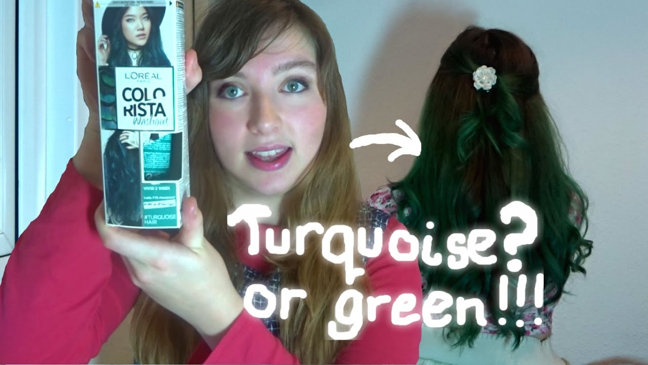 Dyeing Bleaching My Hair Turquoise Green With L Oreal S