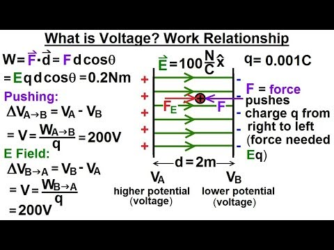 Physics - E&M: Ch 38.1 Voltage Potential Understood (4 of 24) What is Voltage? Work Relationship