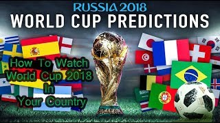 How to watch FIFA worldcup 2018 Live on Mobile